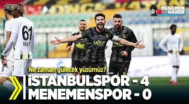 İstanbulspor -4 Menemenspor -0 (MAÇ SONUCU - ÖZET)