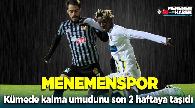 Menemenspor - Eskişehirspor maç sonucu: 2-1 Umutlar son 2 haftaya kaldı
