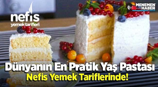 Dünyanın En Pratik Yaş Pastası Nefis Yemek Tariflerinde!