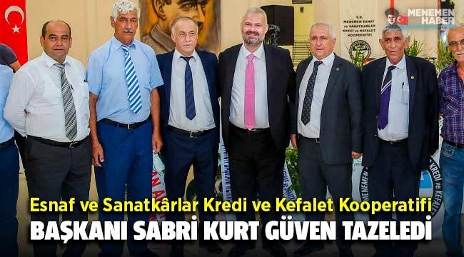 Başkan Sabri Kurt güven tazeledi