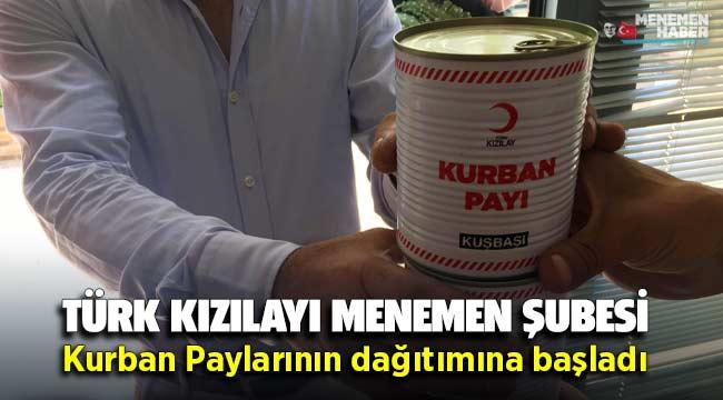 Türk Kızılayı Menemen Şubesi Kurban Paylarının Dağıtımına Başladı