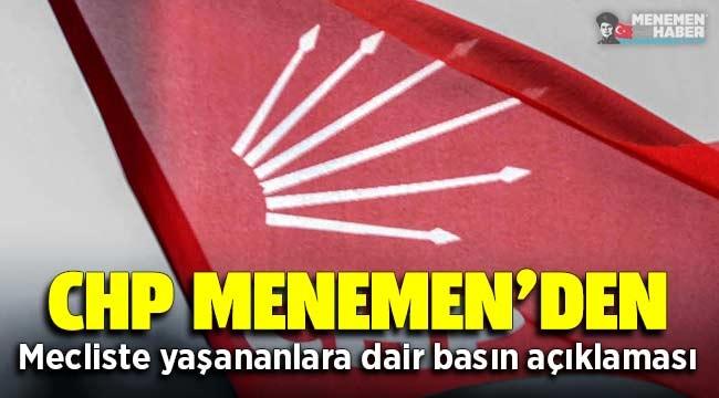 CHP Menemen'den Belediye Meclisinde yaşananlara dair açıklama yapıldı