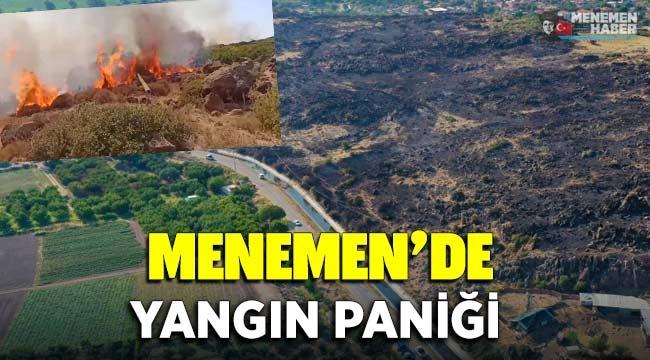 Menemen'de yangın paniği