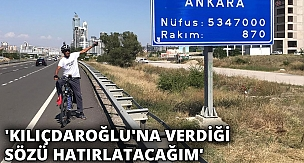 Menemen'de işten çıkarılan belediye işçisi, bisikletle Ankara'ya geldi