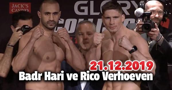 Badr Hari vs Rico Verhoeven Maç Sonu 21.12.2019