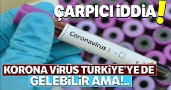 Coronavirüs Türkiye'ye gelebilir iddiası