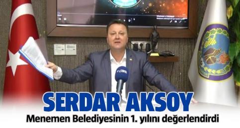 Menemen Belediyesi'nin 1. yılını Başkan Serdar Aksoy değerlendirdi
