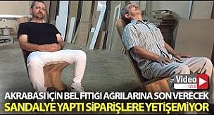 Bursa'da Bel Fıtığına Son Verecek Sandalye üretti