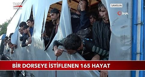 TIR'ın Dorsesinden 165 Afganistanlı Düzensiz Göçmen Çıktı