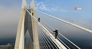 Yavuz Sultan Selim Köprüsü Halatlarında Nefes Kesen Çalışma