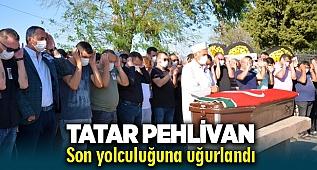 Milli güreşçi Menemenli 'Tatar Pehlivan' Lütfü Siyamük, son yolculuğuna uğurlandı