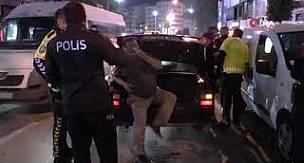 Denizli'de ters yöne giren alkollü sürücü polise zor anlar yaşattı