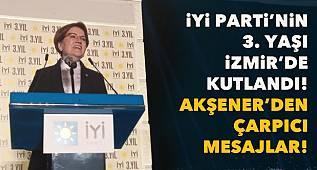 İYİ Parti Lideri Akşener, İzmir'de konuştu