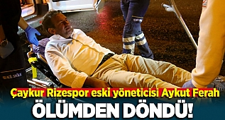 İzmit'te Çaykur Rizespor eski yöneticisi Aykut Ferah TEM'de hurdaya dönen lüks cipinden yaralı kurtuldu
