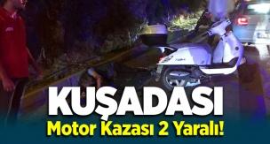 Kuşadası'nda motosikletler kazası 2 yaralı