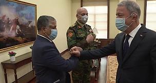 Milli Savunma Bakanı Hulusi Akar, Libya Genelkurmay Başkanı El-Haddad'ı kabul etti