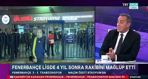 Ogün Temizkanoğlu, Fenerbahçe-Trabzonspor maçını değerlendirdi