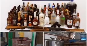 Tekirdağ'da Tonlarca Kaçak İçki Ele Geçirildi