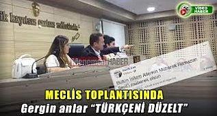 """Menemen Belediye Başkanı Serdar Aksoy Ak Parti Meclis Üyesine """" Türkçeni Düzelt """""""