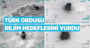 Türkiye, Suriye'de rejime ait unsurları gece boyunca vurdu